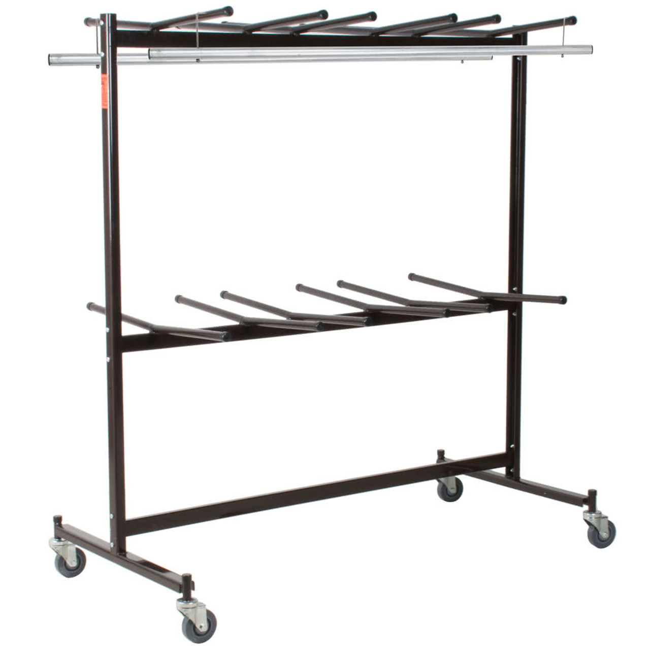 Chair Rack Hanging Storage And Transport Folding Chair Cart With Checkerette Bars And Coat Rack Conversion