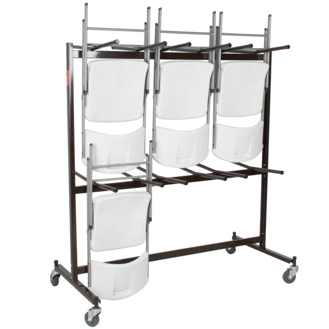Chair Rack 84 Capacity Hanging Folding Chair Storage Cart By National Public Seating