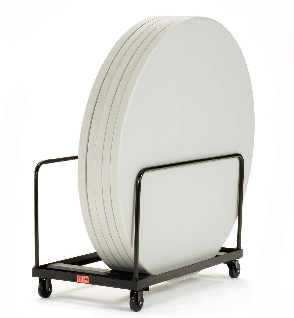 folding chair round kentucky 8 10 capacity edge stack rectangle table dolly by national public seating