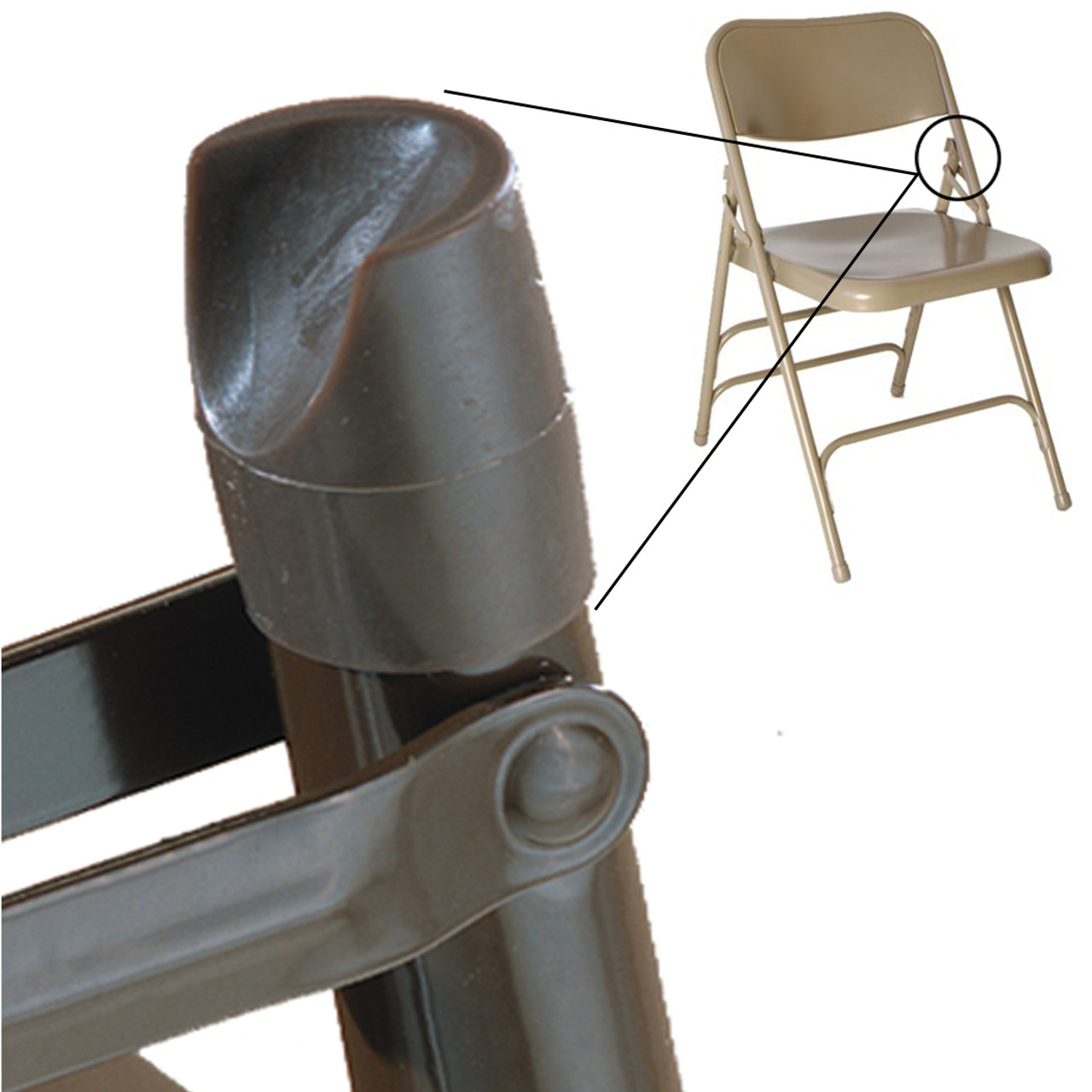Metal Chairs Individual Pieces Plastic Stability Caps For Metal And Padded Folding Chairs Fits 7 8