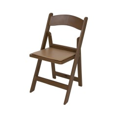 Brown Wooden Folding Chairs Leather Chair Modern Rhino Resin 1000 Lb Capacity Wedding Garden Style Classic Series