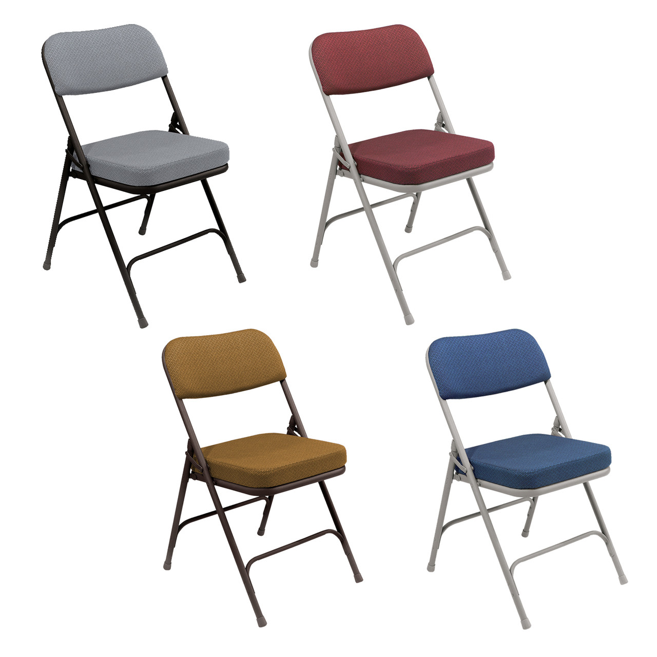 cloth padded folding chairs best fishing bed chair uk premium 2 thick fabric by national public seating 3200 series
