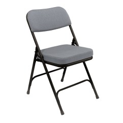 Folding Chair Fabric Webbed Chaise Lounge Chairs Premium 2 Thick Padded By National Public Seating 3200 Series