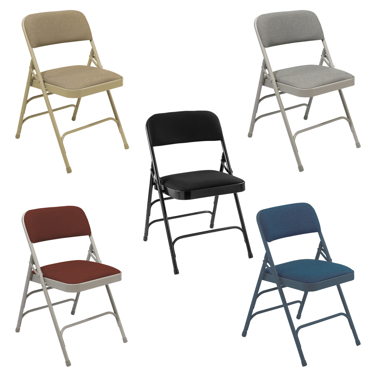 cloth padded folding chairs best pc body builder hd fabric chair by national public seating 2300 series