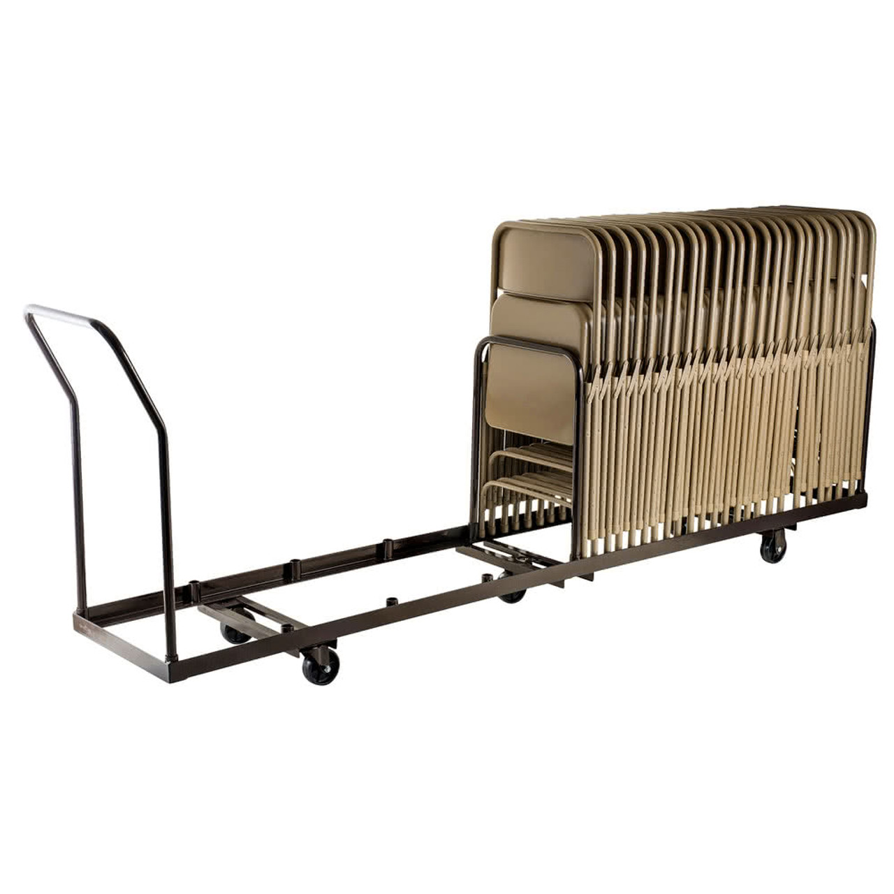 folding chair dolly 50 capacity serta perfect lift reviews linear storage and transport by national public seating model