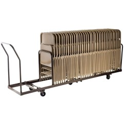 Folding Chair Dolly 50 Capacity Green Outside Chairs Linear Storage And Transport By National Public Seating Model