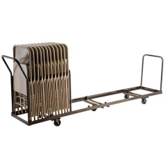 Folding Chair Dolly 50 Capacity Alera Elusion Review Linear Storage And Transport By National Public Seating Model