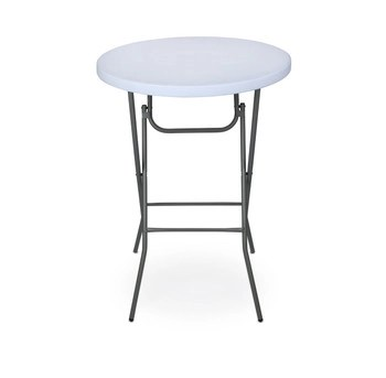 folding circle chairs chair tech furniture high top cocktail tables foldingchairsandtables com rhino lite 32 round plastic table 43 5 bar height steel frame