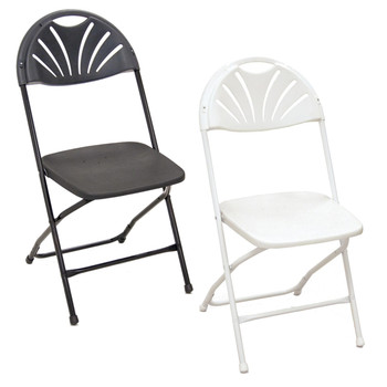 white plastic chairs kroehler chair value folding strong durable long lasting series 5 fan back made in the usa