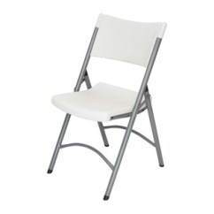 White Plastic Chairs Recovering Chair Cushions Folding Strong Durable Long Lasting Classic Series Granite Blow Molded