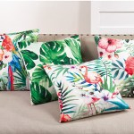 Home Indoor Outdoor Decor Tropical Print Throw Pillow Www Fenncostyles Com