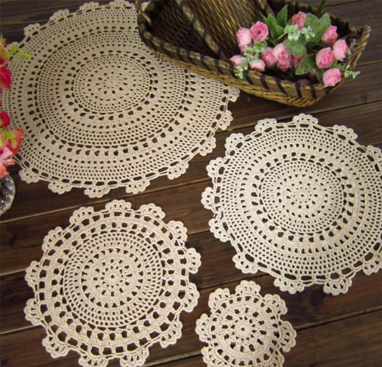 handmade medallion crochet lace