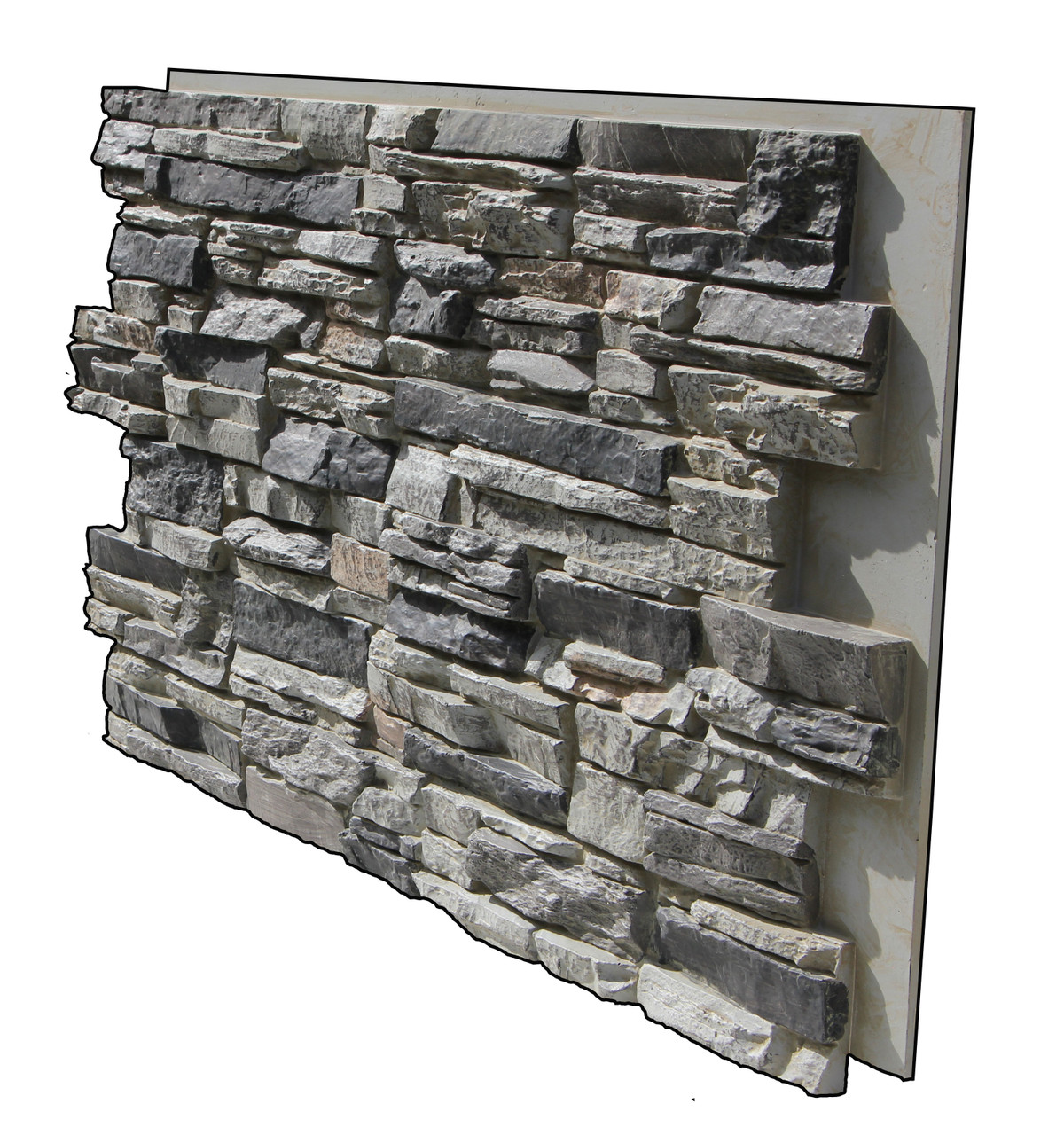 Lightning Ridge Stack Stone Panel Finished In Gray Fox