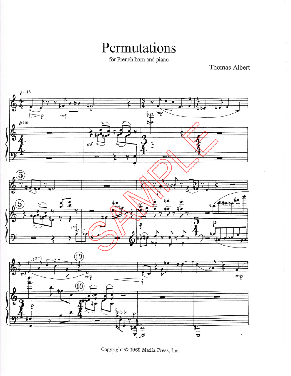 hight resolution of albert thomas permutations for french horn and piano digital download
