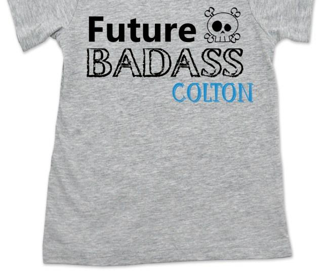 Future Badass Toddler Shirt Skull Toddler T Shirt Badass Little Boy Badass