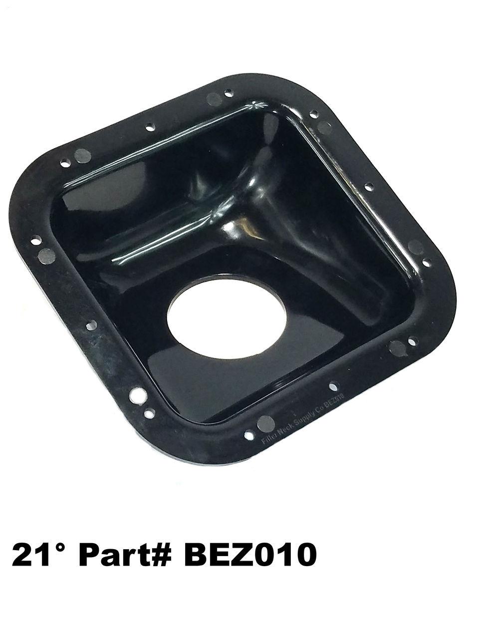 medium resolution of square plastic fuel filler neck protector dish bezel 21 degree housing bez010 frdf4tz