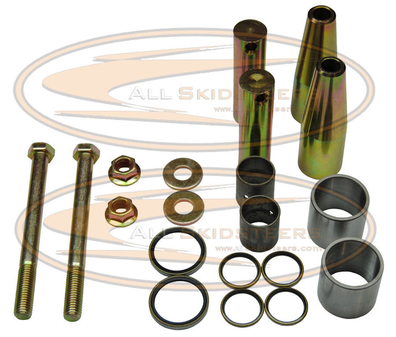 small resolution of d e c bobcat bobtac bolt bushing frame kit large nut pin washer