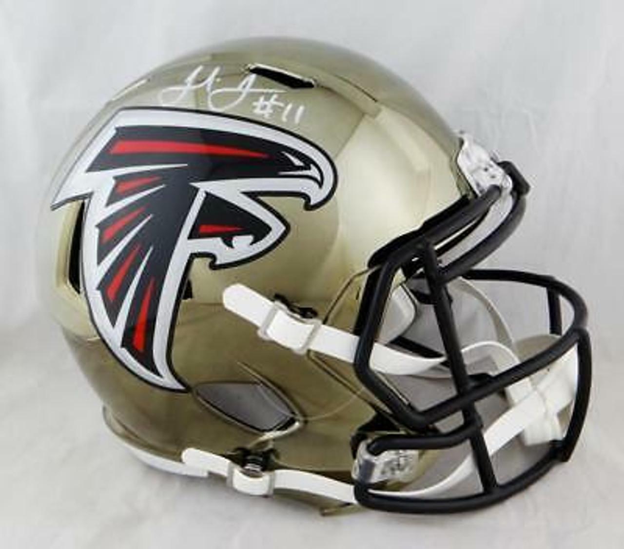 Julio Jones Atlanta Falcons Autographed Chrome Replica Helmet Maverick Autographs And Collectibles