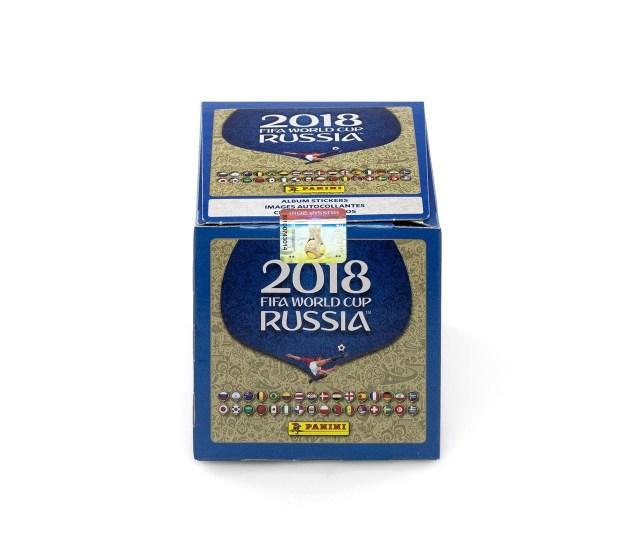 Panini 2018 Fifa World Cup Russia Sticker Box 50 Packets X 5 Stickers