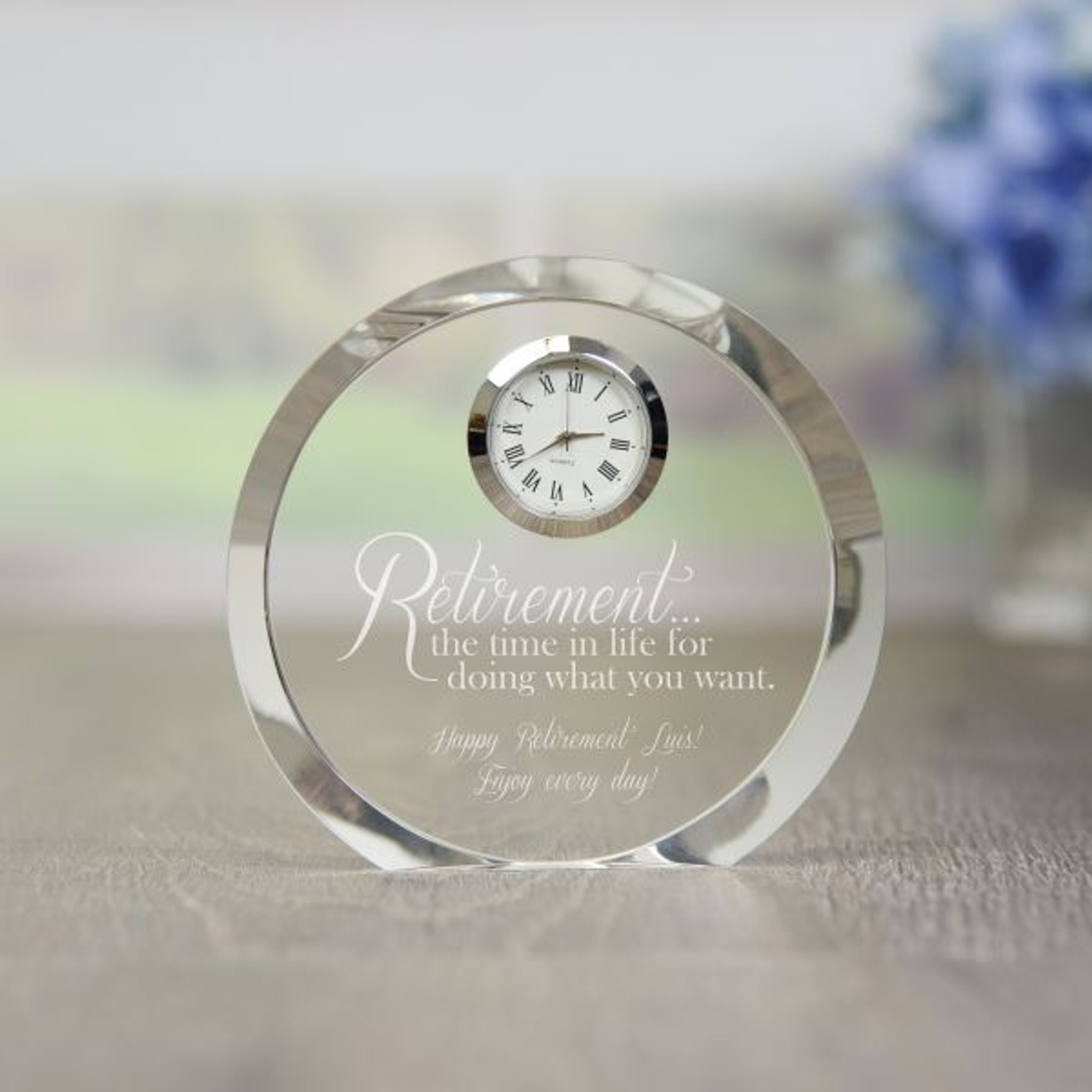 personalized retirement clock