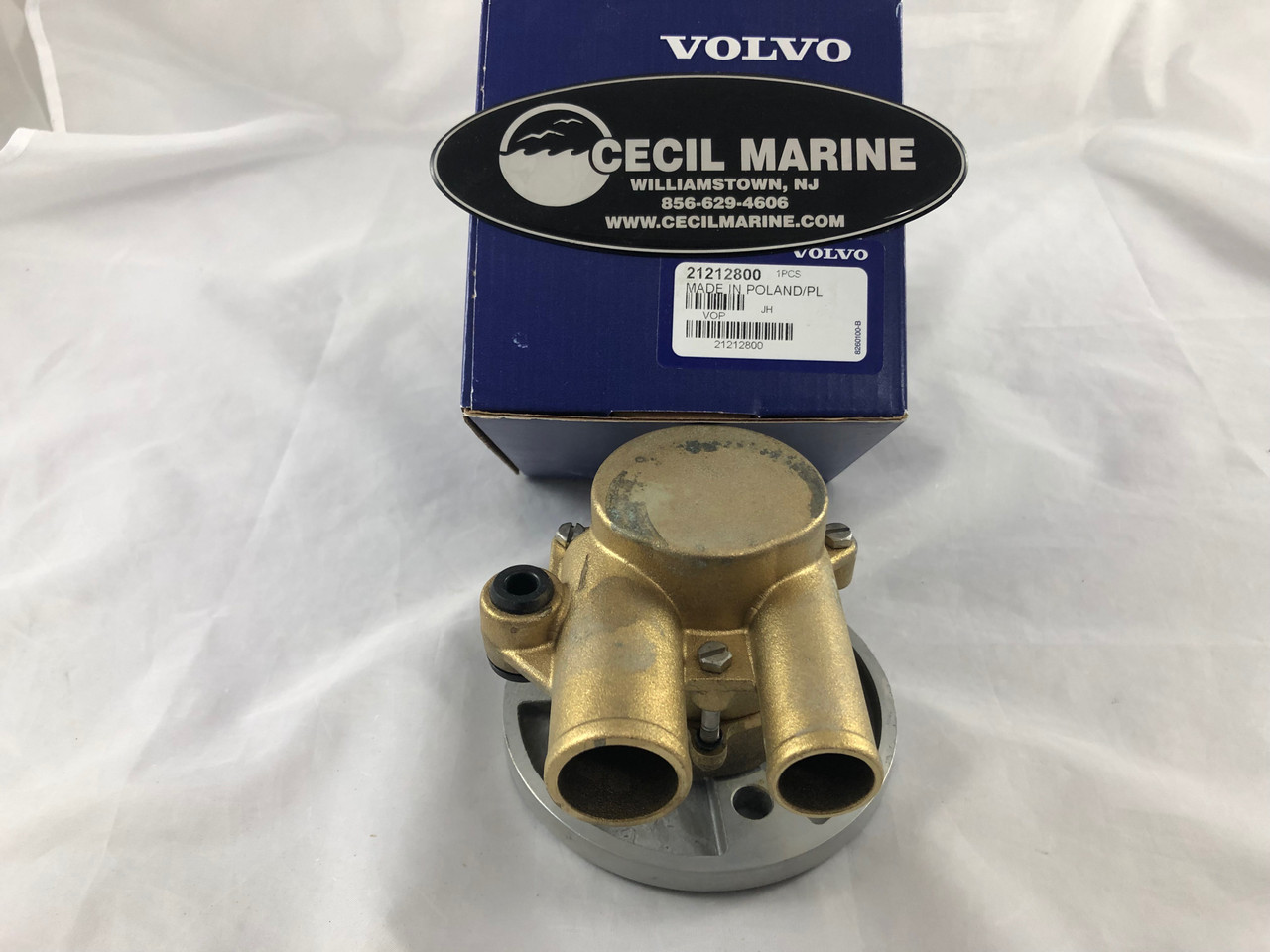 small resolution of  329 95 genuine volvo sea water pump 21212800 in stock ready to ship