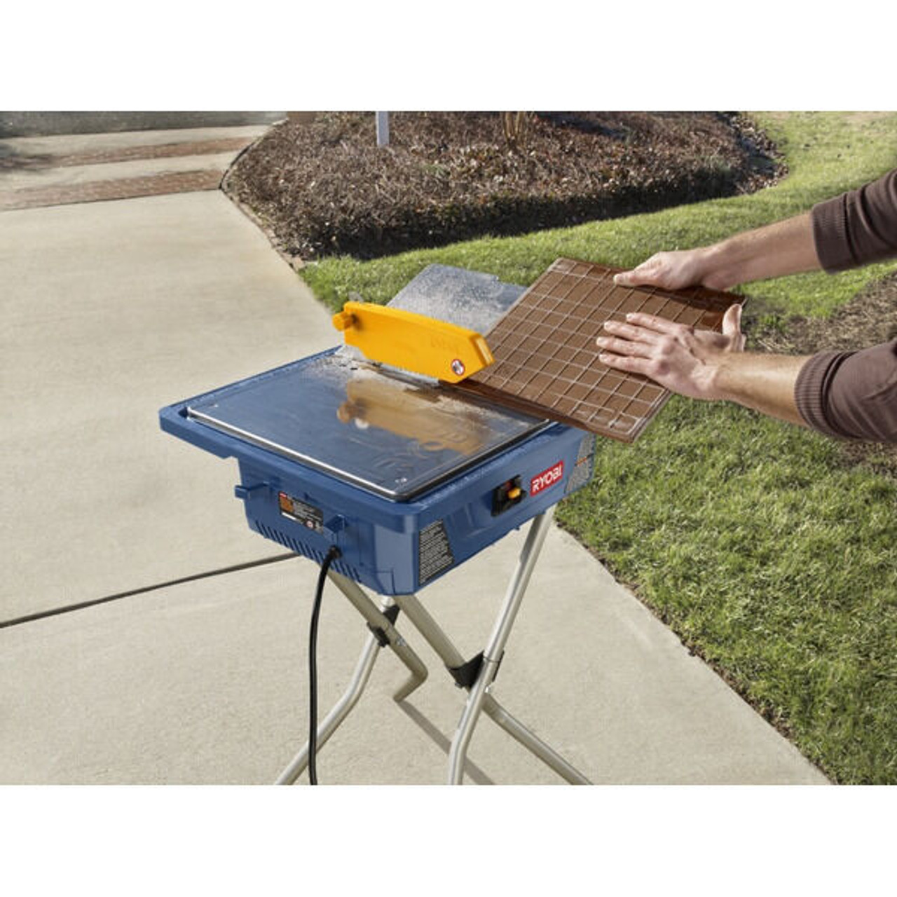 tile cutter ryobi 7 ws720sbf wet tile w stand