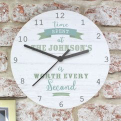 Wooden Kitchen Clock Cabinets Las Vegas Personalised Large The Gift Company