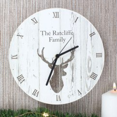 Wooden Kitchen Clock Outdoor Designs Personalised Stags Head The Gift Company Highland Stag