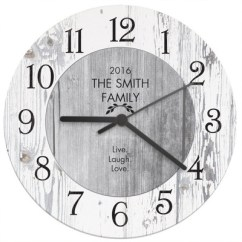 Wooden Kitchen Clock Composite Countertops Personalised Shabby Chic The Gift Company