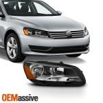 Fit Halogen Type 2012 2015 Volkswagen Passat Passenger Right Side Headlights Oemassive