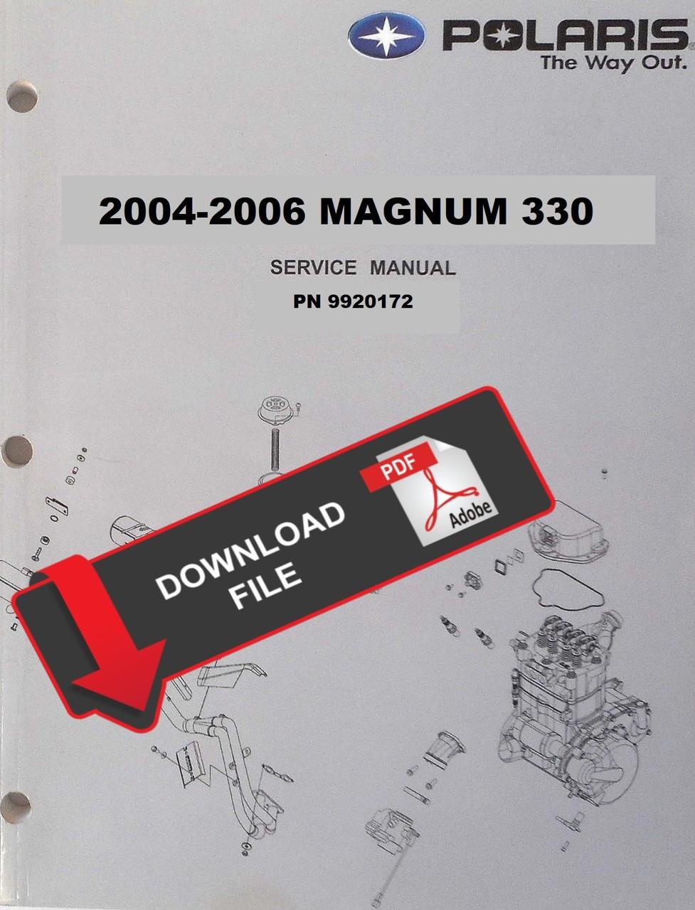 medium resolution of polaris 2005 magnum 330 service manual