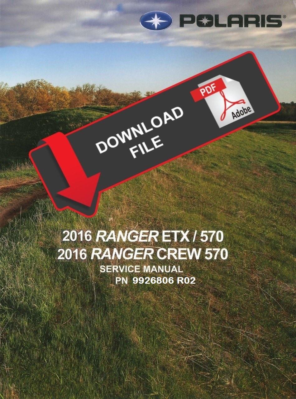 hight resolution of polaris 2016 ranger midsize 570 service manual