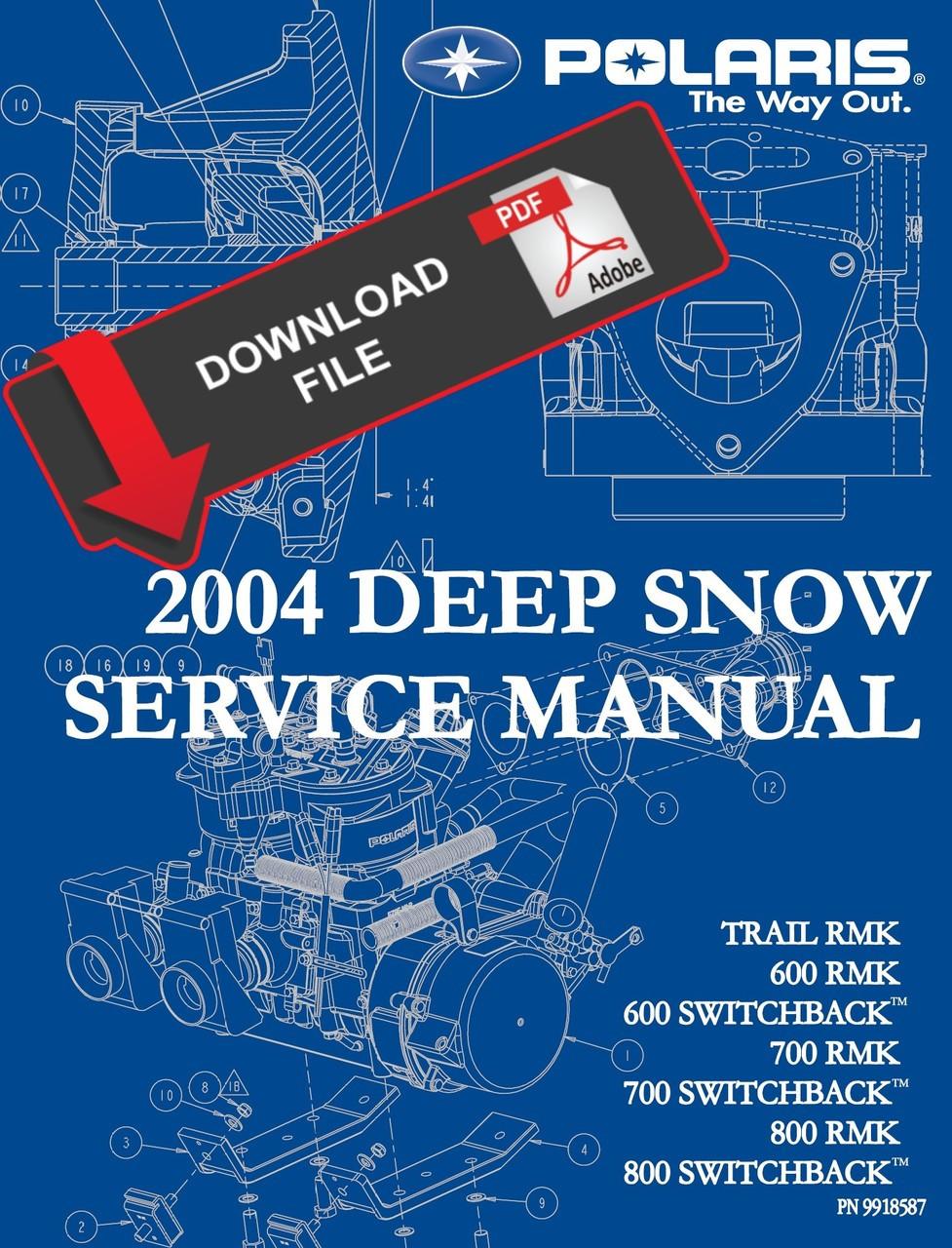medium resolution of polaris 2004 700 rmk service manual