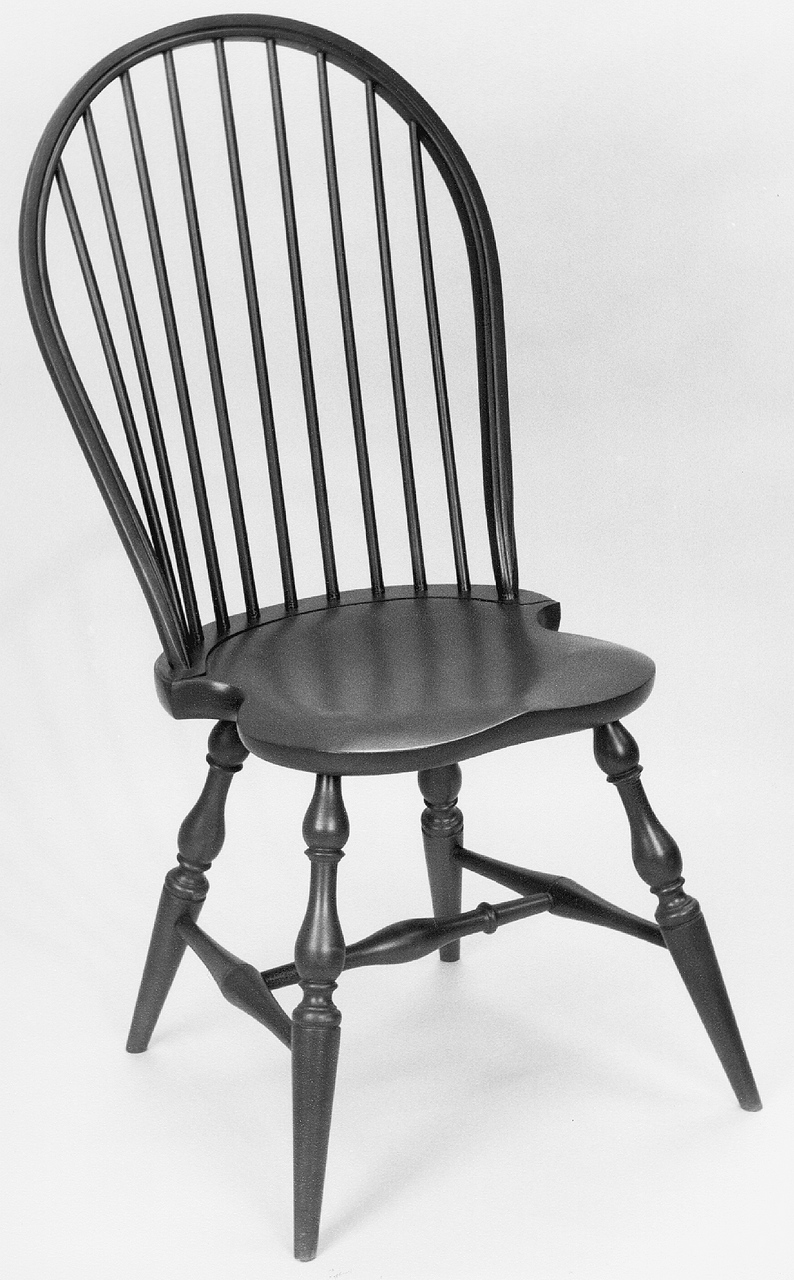 Windsor Chairs Black Windsor Bowback Side Chair Kit