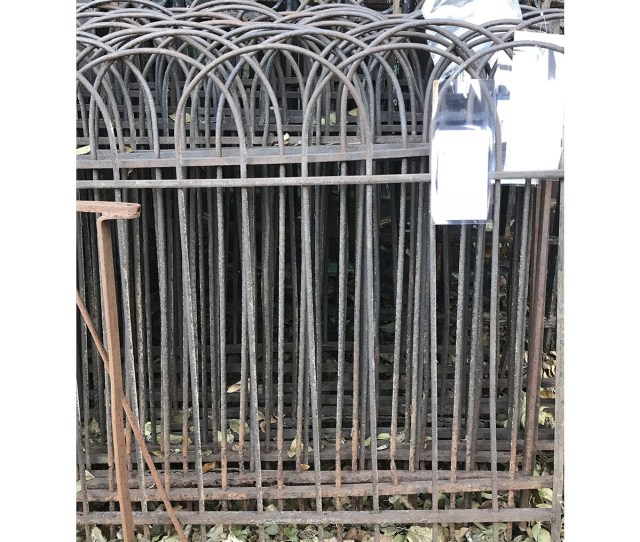 S Antique Wrought Iron Fence Section