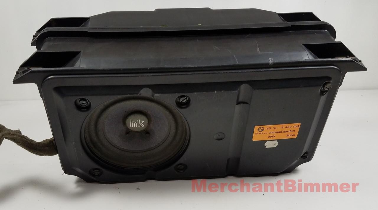 hight resolution of bmw e36 7 z3 roadster rear subwoofer speaker 8400106