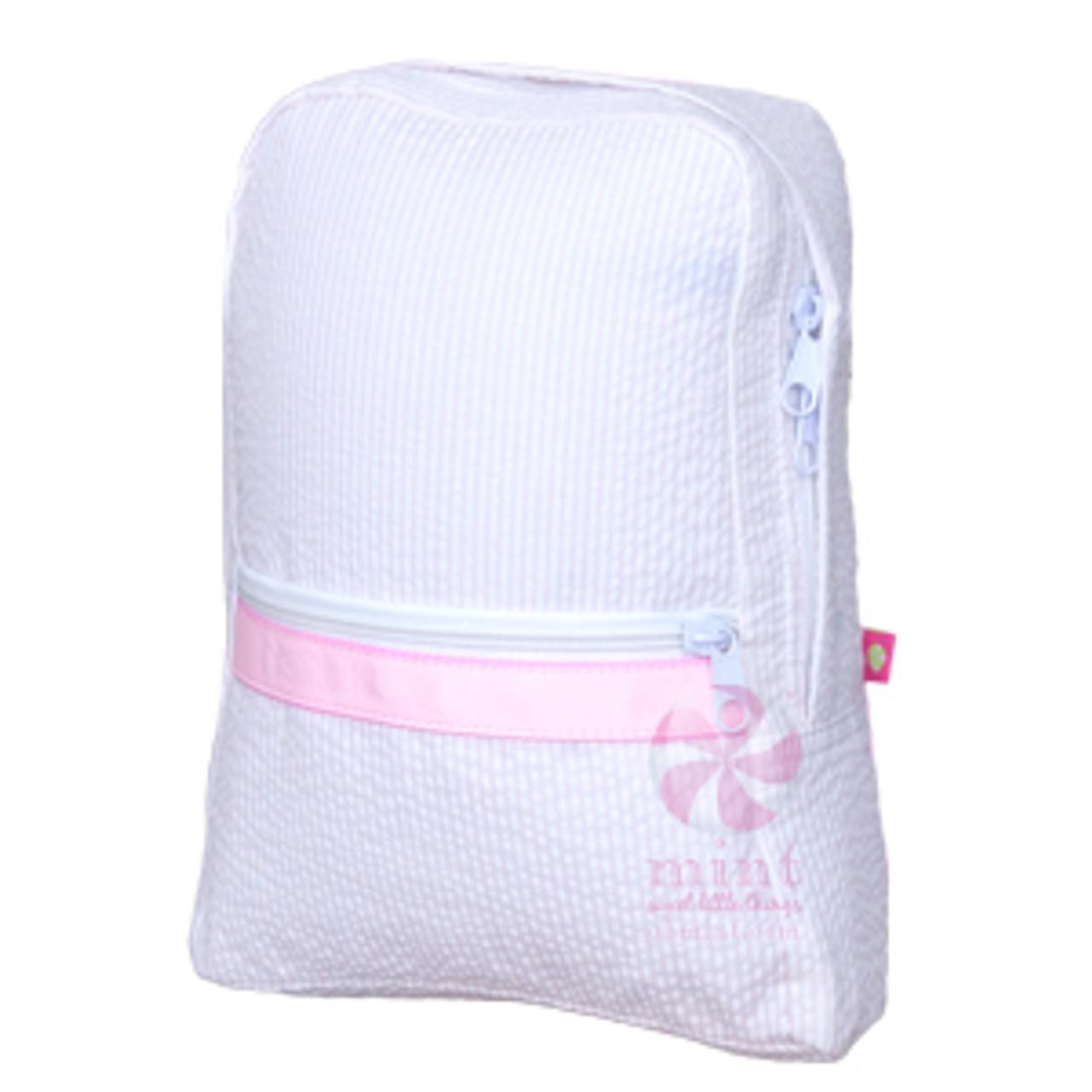 personalized seersucker toddler backpack