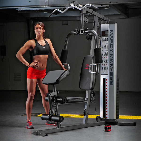 Workout chart the marcy lb weight stack home gym mwm with female model also system machine rh impex fitness