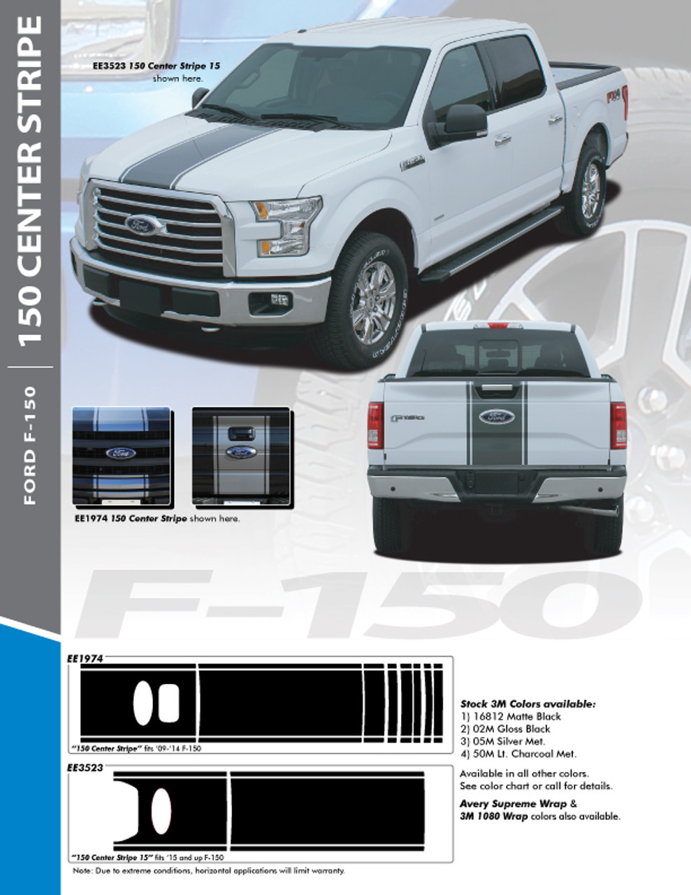 2018 F150 Colors : colors, Blackout, Decal, 2015-2018, Roush, Inspired, Graphics, Style, Motors, Divers, Parts, Accessories