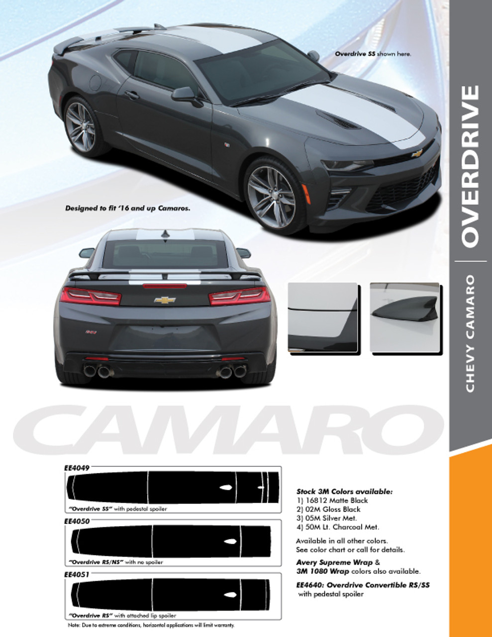 Overdrive chevy camaro center wide hood racing stripes rally vinyl graphics and also graphic decal rh prodesignseries