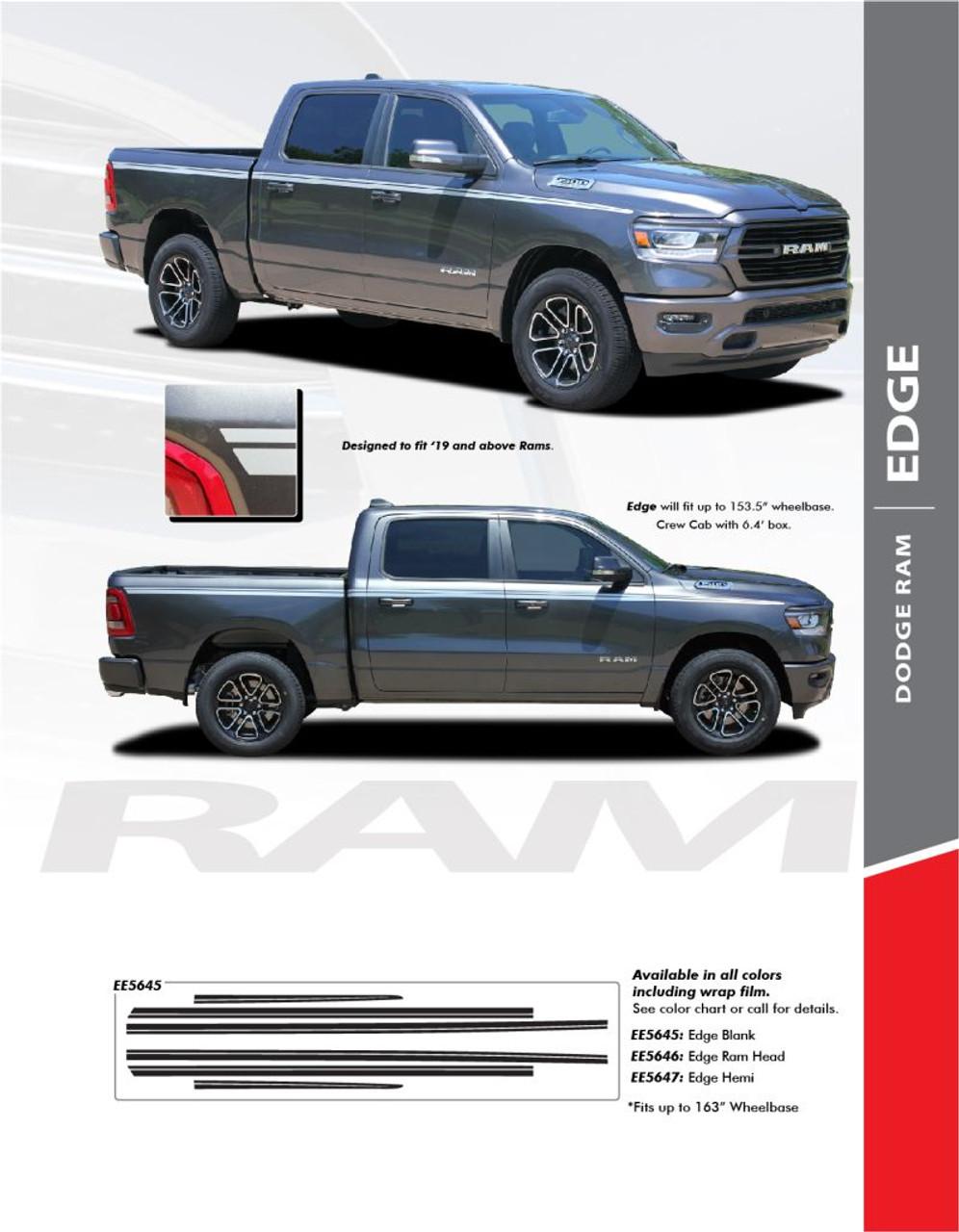 6 Door Dodge Ram : dodge, Dodge, Graphics, Stripe, 2019-2020