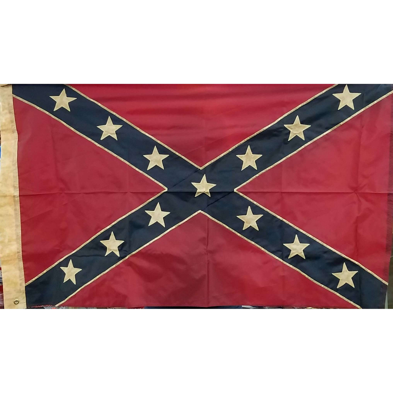 vintage embroidered confederate flag