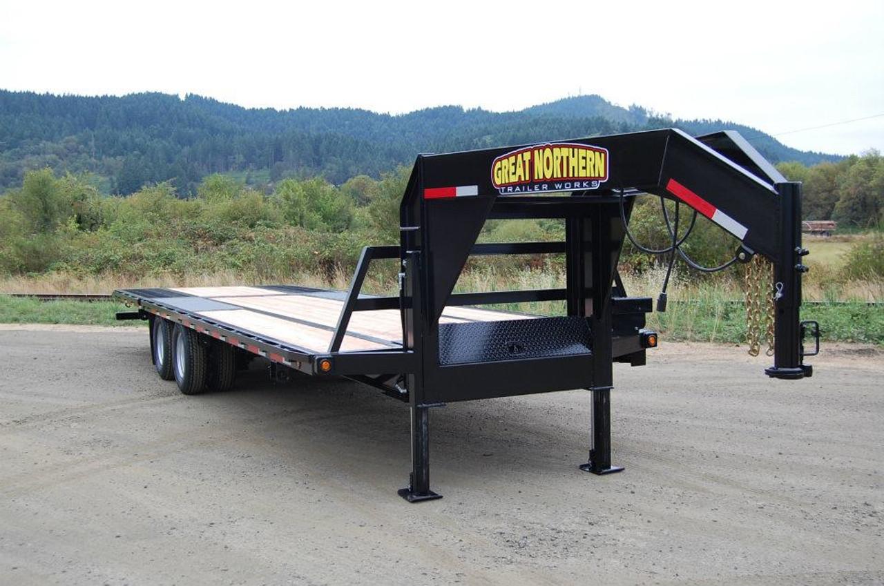 great northern 8 5 x 25 24k low pro gooseneck trailer gn25 24k