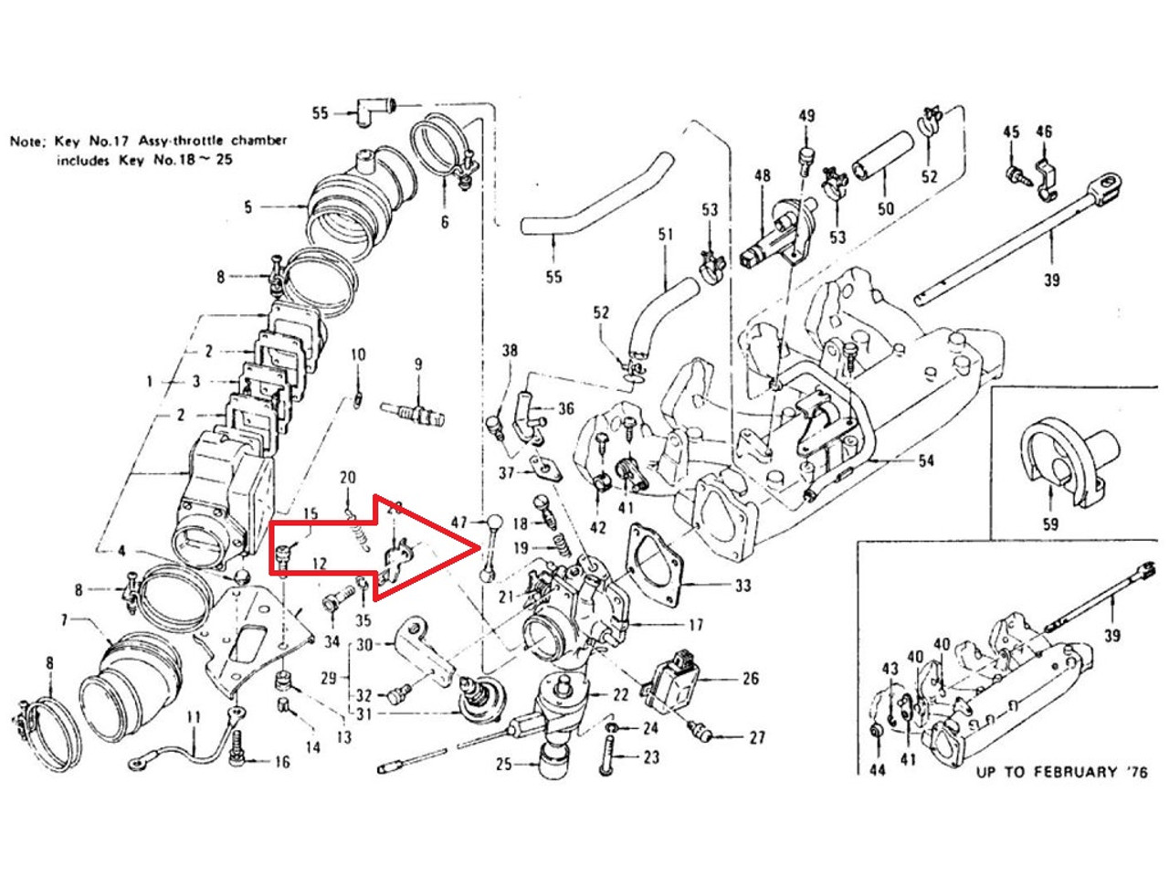 medium resolution of x throttle linkage connecting rod at throttle body for 280z 280zx 280z throttle body diagram