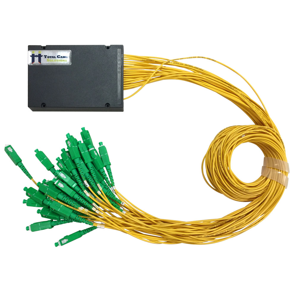 hight resolution of 1x32 plc fiber splitter abs box type sc apc