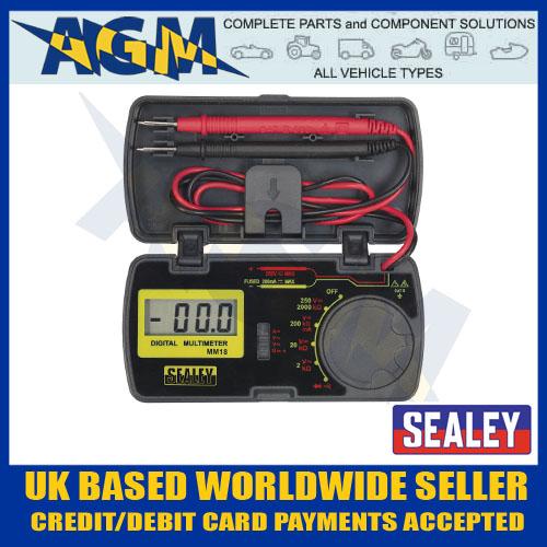 medium resolution of sealey mm18 pocket sized digital multimeter test multi meter in storage case