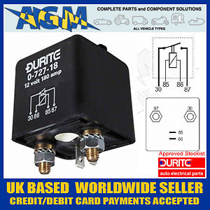 medium resolution of durite 0 727 18 relay 12 volt 120 amp heavy duty make or break relay relay