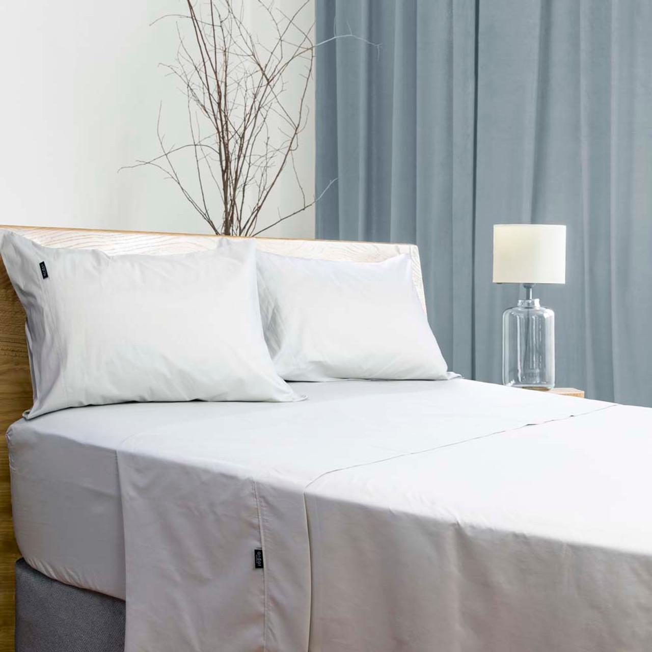 antibacterial white 700tc sheet set king bed