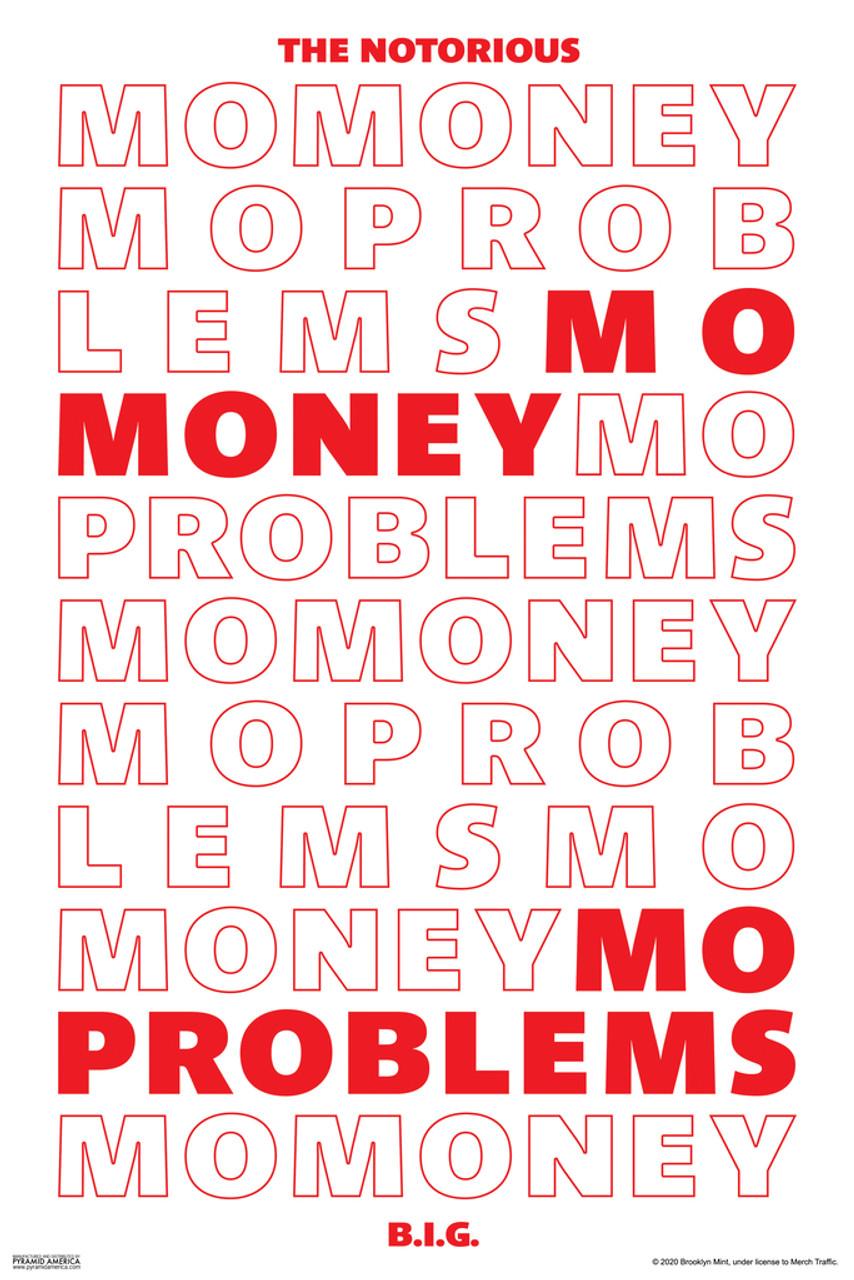 notorious big mo money mo problems biggie smalls rapper hip hop music 90s retro vintage style cool wall decor art print poster 12x18