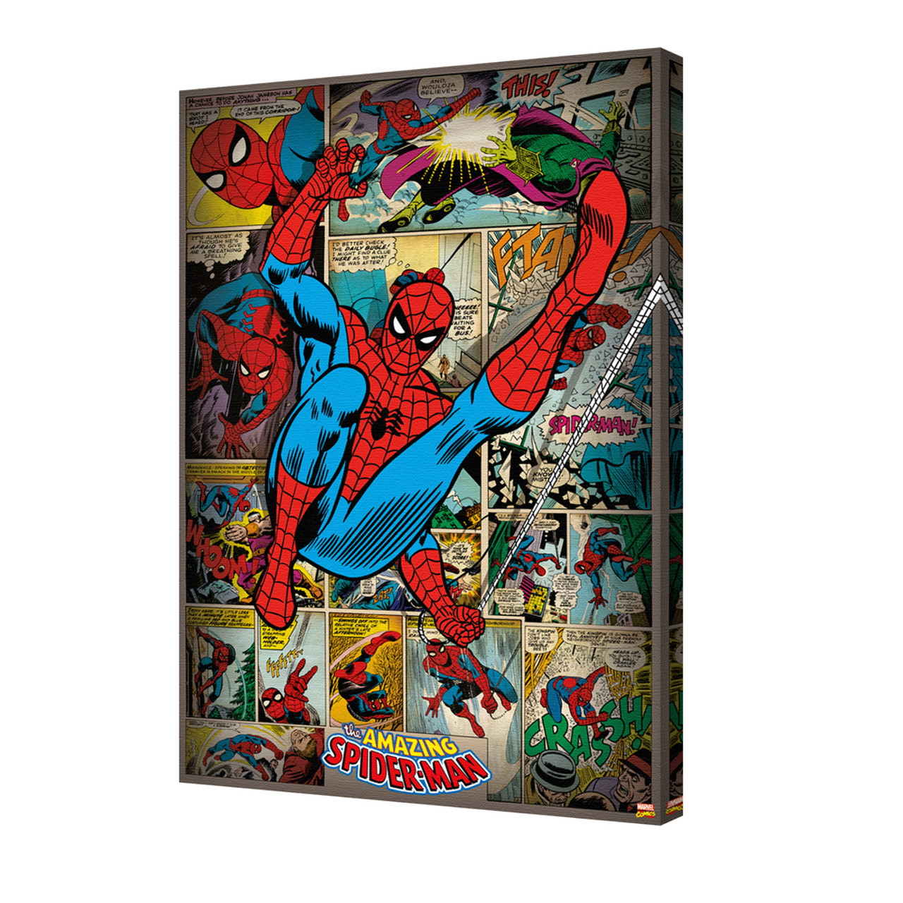 spider man panels stretched